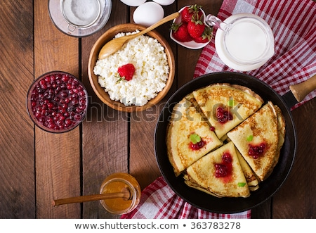 Homemade French Crepes With Sugar Stock photo © mpessaris