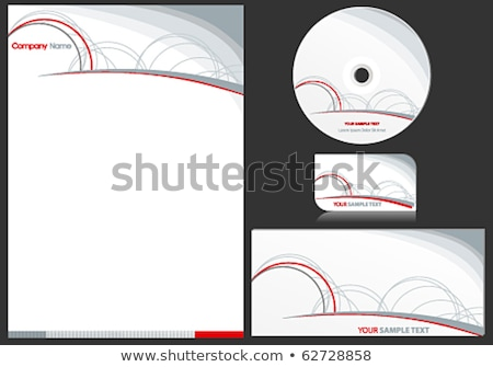 creative circle stationery set for business branding Stock photo © SArts