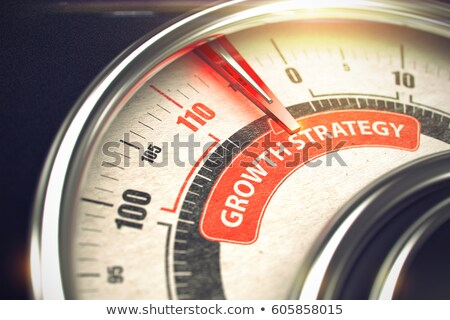 üzlet növekedés stratégia 3d illusztráció pult piros Stock fotó © tashatuvango