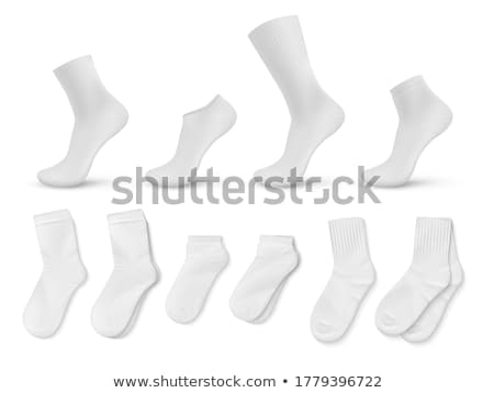 Set of different socks isolated on white Stock photo © DeCe
