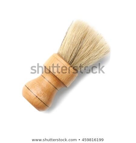 Cepillo primer plano tazón madera mesa Foto stock © Kzenon