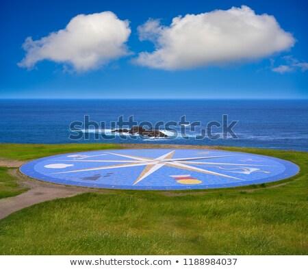 La kompas mozaiek toren galicië vloer Stockfoto © lunamarina