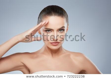 Bela mulher isolado branco mulheres beleza Foto stock © alexandrenunes