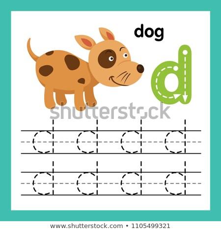 заклинание английский слово собака иллюстрация школы Сток-фото © bluering