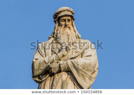 Leonardo da Vinci monument in Milan Stock photo © boggy