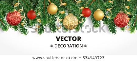 Natal grinalda cartaz gradiente neve Foto stock © adamson