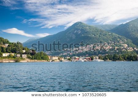 lac · panoramique · vue · montagnes · Italie · ciel - photo stock © boggy