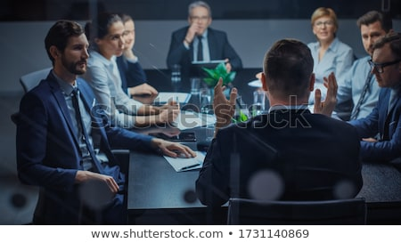 Femenino financieros gerente de trabajo oficina mujer Foto stock © Elnur