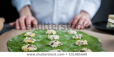 quail stuffed with porcini mushrooms. Stock photo © zoryanchik