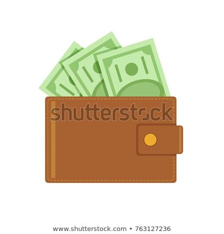 Pénztárca pénz tele illusztráció számlák érmék Stock fotó © lenm