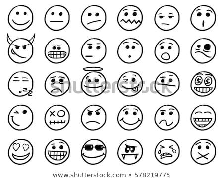 Cartoon duivel vervelen illustratie naar mannen Stockfoto © cthoman