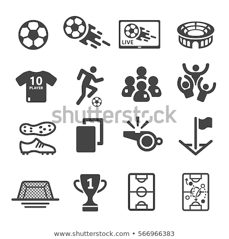 Fußball Fußball Symbol Vektor Ziel net Stock foto © blaskorizov