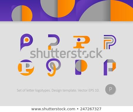 定型化された 手紙i ロゴタイプ ベクトル ロゴ ストックフォト © blaskorizov