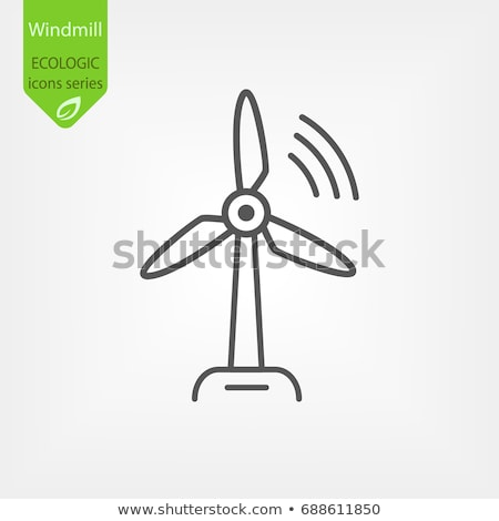 Windturbine vector icon logo symbool ontwerp Stockfoto © blaskorizov