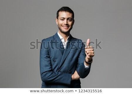 Obraz szczęśliwy biznesmen 30s formalny garnitur Zdjęcia stock © deandrobot