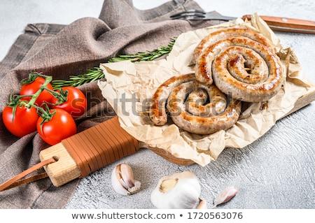 ızgara · spiral · sosis · lezzetli · ketçap · kiraz · domates - stok fotoğraf © illia