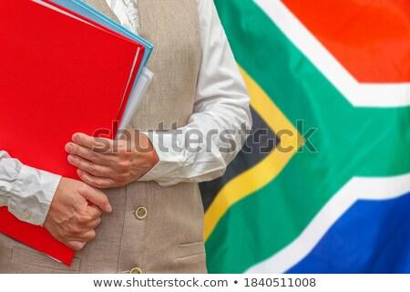 folder with flag of south africa stock photo © mikhailmishchenko