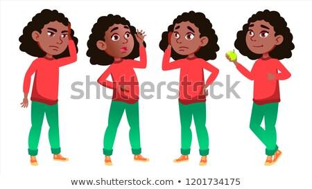 Menina conjunto vetor escola secundária criança Foto stock © pikepicture