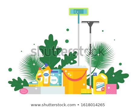 Green cleaning concept banner header. Stock photo © RAStudio