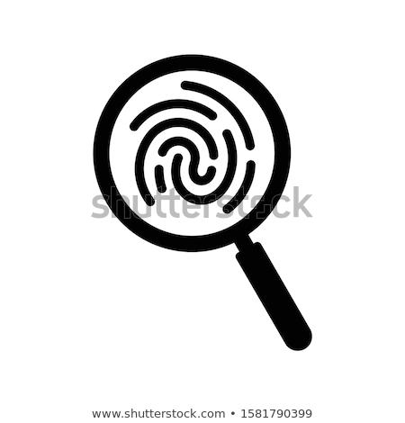 Ujjlenyomat nagyító vektor ikon izolált személyes Stock fotó © robuart