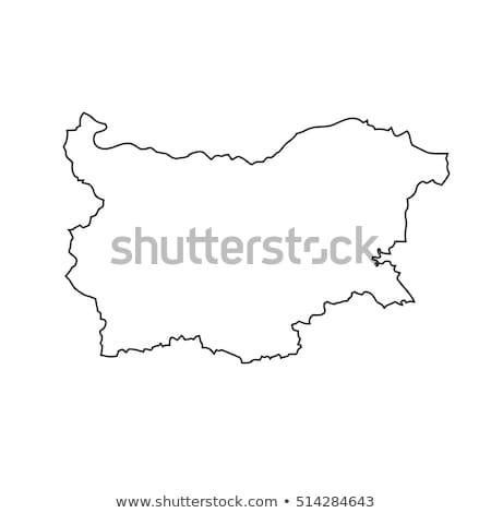Bulgária mapa vetor ícone símbolo assinar Foto stock © blaskorizov