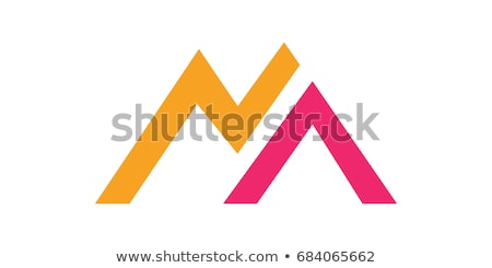 Geometrik dağ mektup m yeşil ikon logo Stok fotoğraf © blaskorizov
