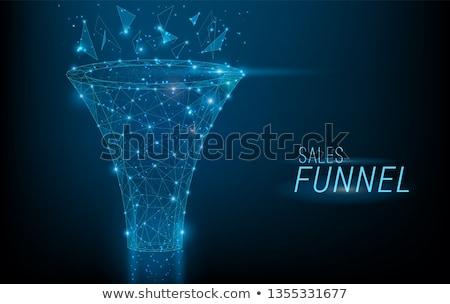 Sales funnel management concept landing page. Stock photo © RAStudio