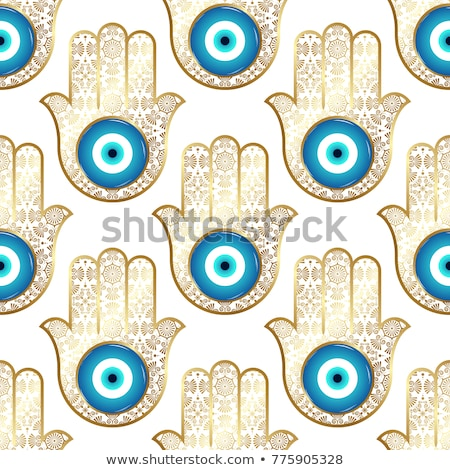 hamsa hand hand of fatima vector seamless pattern symbol of protection from devil eye repetitve b stock photo © redkoala