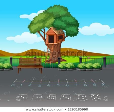 Math gioco panorama illustrazione albero costruzione Foto d'archivio © bluering