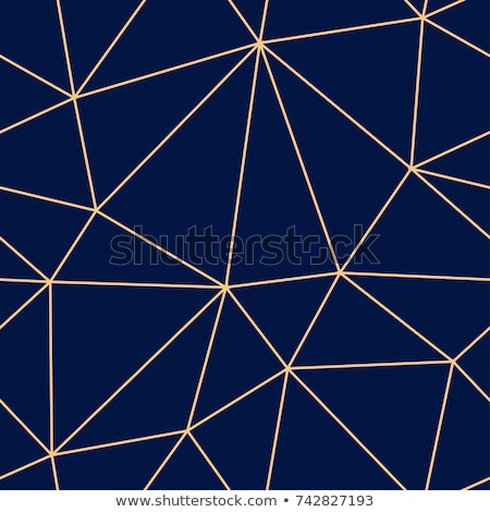 Line triangle blue seamless vector pattern. stock photo © yopixart