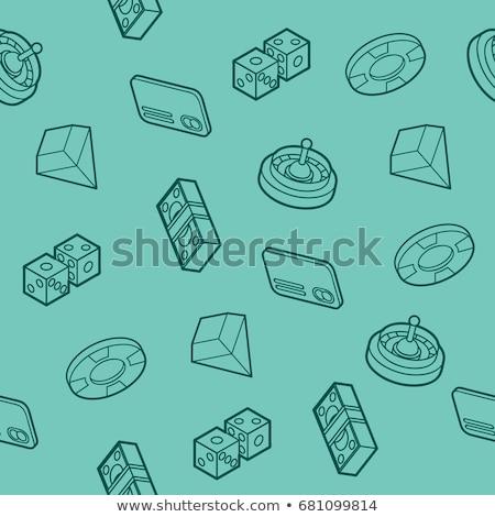 játék · izolált · fehér · doboz · asztal · kocka - stock fotó © netkov1