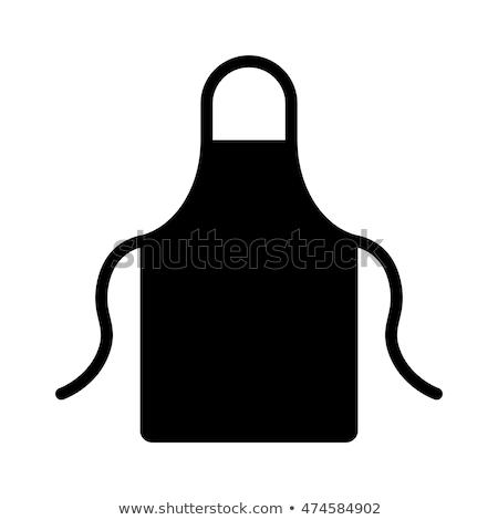 Garçonete avental ícone bandeja Foto stock © robuart