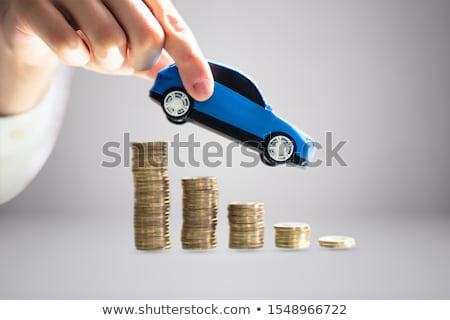 auto · munten · Rood · business · verzekering - stockfoto © andreypopov