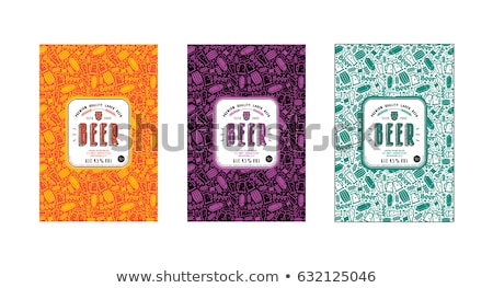 Colored brewing pattern Stock photo © netkov1