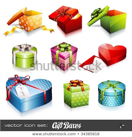 ingesteld · geschenk · colli · christmas · geschenken · partij - stockfoto © robuart