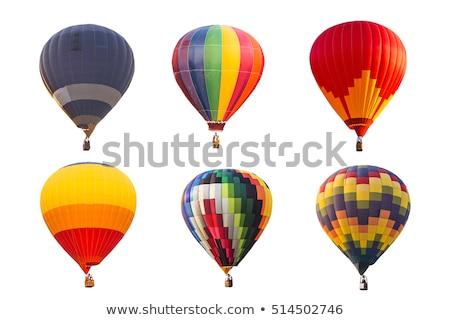 globo · de · aire · caliente · color · establecer · aislado · colorido · globos - foto stock © netkov1