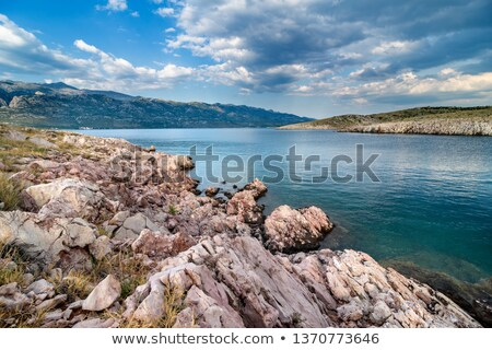 Adriatic Sea bay with view over Paklenica National Park Stock photo © rafalstachura