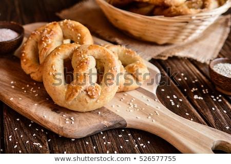 Crujiente suave galletas saladas forma de corazón alimentos Foto stock © BarbaraNeveu