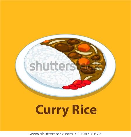 vector of curry rice stock photo © olllikeballoon