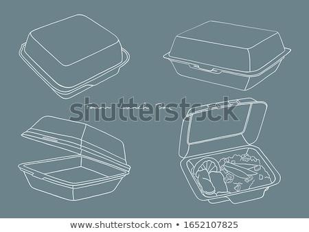 vector set of foam container stock fotó © olllikeballoon