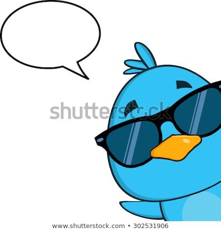 面白い · 鳥 · 吹き出し · 漫画 · レトロな · テクスチャ - ストックフォト © hittoon