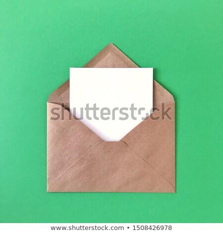 Colorido correspondencia decorativo hecho a mano diseno espacio Foto stock © artjazz