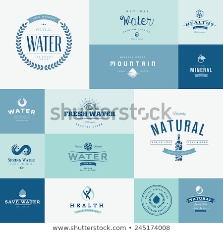bottle with still water icons vector illustration stock photo © robuart