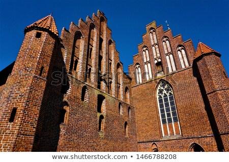 Manastır Almanya binalar stil tuğla Stok fotoğraf © borisb17