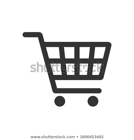 Icona carrello retail consumismo contorno stile Foto d'archivio © ussr