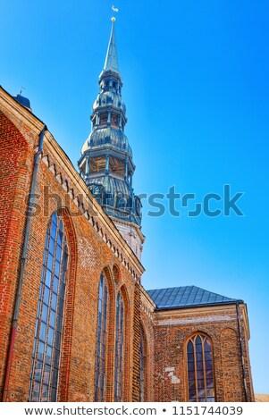 romano · católico · igreja · Riga · Látvia · céu - foto stock © borisb17