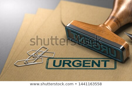 Urgent brief envelop 3d illustration drie Stockfoto © olivier_le_moal