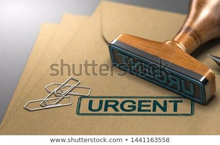 urgente · bianco · veloce · tag · gomma - foto d'archivio © olivier_le_moal