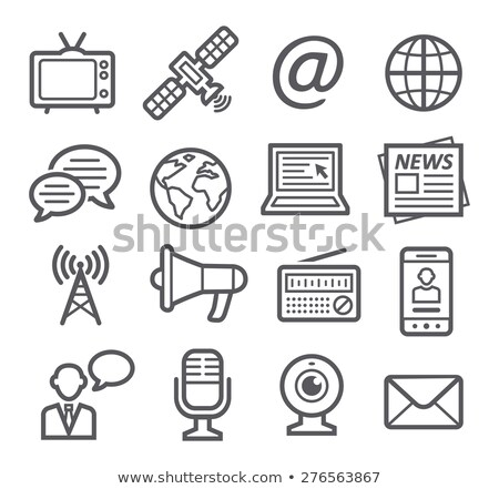 Satellite and Globe with Lines, Global Services Stock photo © robuart