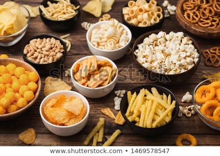 Bier snacks chips kom top Stockfoto © karandaev